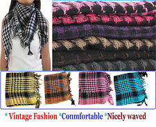 Unisex Checkered Arab Keffiyeh Shemagh Arabian Head Scarf Shawl Hijab Neck Wrap