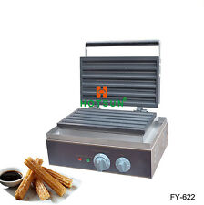 110V 220V Nonstick Electric Commercial Churros Waffle Iron Maker Machine