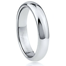 Men's 4.5mm Wide Tungsten Carbide Band Comfort Fit Ring High Polished - TCR006
