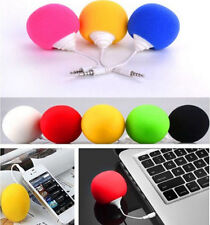 IPod Sponge Ball PC Cell Phone New Speaker iphone 5.5mm Music MP3 Mini Portable