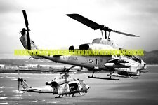 AH-1W Super Cobra Helicopter UH-1Y Huey helicopter Photo Military USMC Navy Vet