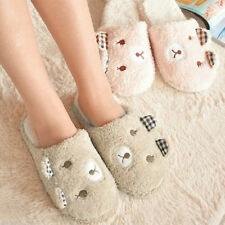 Warm Women Plush Winter Indoor Home Antiskid Animal Soft Bear Slippers Cute Men