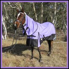 LOVE MY HORSE 5'0 - 6'6 1200D Reflective Fleece Lined Turnout Combo Rug Lav