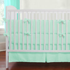 Baby Crib Bedding Set Fitted Pillowcase Pleated Skirt Bumper Comforter- 5PC Set