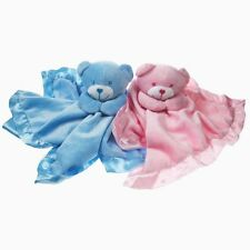 Cute Satin & Fleece Teddy Baby Comforters In Pink And Blue