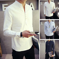 Hot Fashion Mens Luxury Stylish Long Sleeve Dress Shirts Slim Fit Casual Shirts