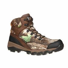 Rocky Mens Brown Realtree Xtra Leather Adaptagrip WP Hunting Boots
