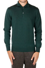 HERITAGE Man Green Wool Merino Sweater Made in Italy New with tags and original
