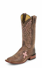 Tony Lama Womens Tan Saigets Worn Goat Leather San Saba Western Boots
