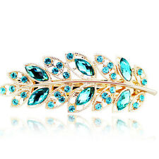 Hot Girls Hair Clip Leaf Crystal Rhinestone Barrette Hairpin Headband Accessory