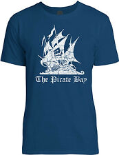 Big Texas The Pirate Bay Distressed (White) Mens Fine Jersey T-Shirt