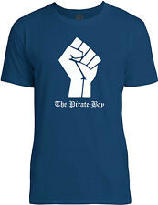 Big Texas The Pirate Bay Fist (White) Mens Fine Jersey T-Shirt