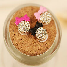 2PC Crystal Bow Bling Decor Home Button Stickers For iPhone Sales
