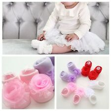 Lovely Baby Girl Princess Lace Flowers Infant Toddler NewBorn Soft Warm Socks