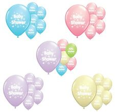 """10 x Baby shower 12"""" helium or air fill balloons in many colours"""