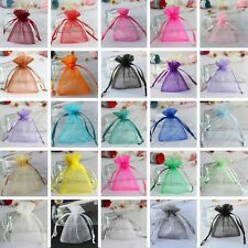 Set of 50 Strong Organza Pouch Xmas Wedding Favor Jewelry Gift Candy Bag 7x9cm