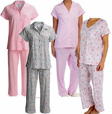 Pajamas CAROLE HOCHMAN L,XL,2X Short Sleeve 100% Cotton Knit  NWT