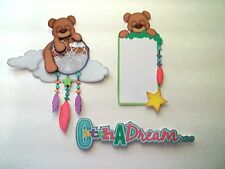 3D-U Pick-Sleeping Bear Pillow Journal CardStar Scrapbook Card Embellishment BE5