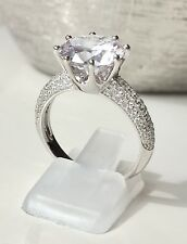 Sparkling FIRE Engagement Bridal Cubic Zirconia Ring 925 Solid Sterling Silver
