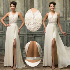 Lady Formal Long Gown Ball Party Evening Cocktail Prom Bridesmaid Wedding Dress