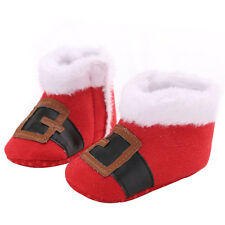 New Infant Toddler Newborn Baby Boy Girl Kid Soft Sole Shoes Christmas Gift Crib