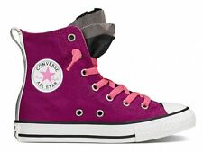 Converse Chuck Taylor Party High Top Junior Girls Shoes Trainers Sapphire Pink