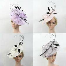 Large Headband Hairband Fascinator Hat for Wedding Bridal Women Tea Party Church