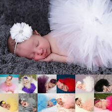 Beautiful Cute Baby Newborn Girl Tutu Skirt Headband Photo Prop Costume Outfit