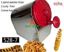 Stainless Steel Manual Spiral Potato Chips Curly Fries Twist Hot Dog Cutter Slic