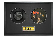 The Beatles 20th Anniversay Picture Disc & Plain Vinyl Original Disc Framed