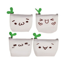 Cute Wallet Kawaii Womens Gift Cartoon Face Expression Silicone Jelly Coin Purse