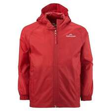 Kathmandu Pocket-it Kids Boys Hooded Rain Jacket Light Packable Coat v2 Red