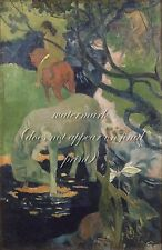 """PAUL GAUGUIN Painting Poster or Canvas Print """"The White Horse"""""""