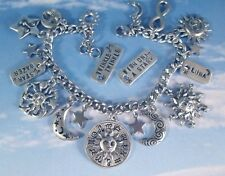 Celestial Women's Charm Bracelet Moon Sun Stars Wish Personalized Fine Fashion