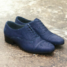 NEW Lanvin Blue Distressed Leather Lace Up Shoes GENUINE RRP: £510 BNIB 45 UK 11
