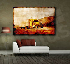 Tuck on the Road Grunge Style Canvas Art Poster Print Home Wall Decor