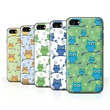 STUFF4 Back Case/Cover/Skin for Apple iPhone 7/Cute Owl Pattern