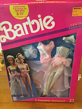 Barbie Fantasy Fashions 2 Complete outfits are in this set Nrfb. 1989