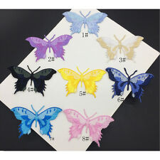 1x Embroidery Butterfly Sew Iron On Patch Badge Embroidered Fabric Applique
