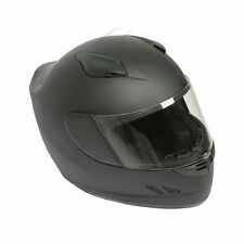 DOT Lightweight Air Flow Street Bike Full Face Motorcycle Helmet Matte Black New