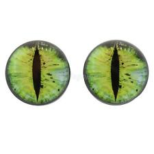 Acrylic Yellow Cat Eye Flesh Double Flared Ear Plug Tunnel Gauge Ear Expanders