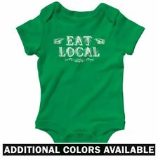 Eat Local One Piece - Baby Infant Creeper Romper NB-24M - Gift Funny Mom Mommy
