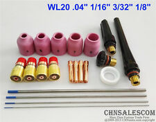 21 pcs TIG Welding Torch Stubby Gas Lens Kit for Tig WP-17/18/26 Series