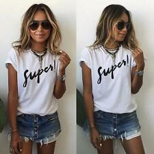 Casual Ladies Short Sleeve T-Shirt Tee Tops Womens Cotton Blouse New Summer
