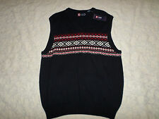 CHAPS SLEEVELESS VEST SWEATER MENS SIZE XL NAVY COLOR NEW WITH TAGS