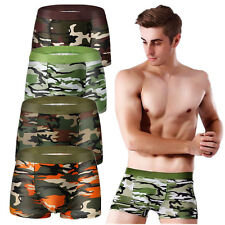 For Men Army Military Camouflage Boxer New Briefs Boy Underwear Pants Hot