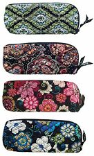 Vera Bradley Cosmetic Bag Clutch Travel Slipper Pouch Retired Large Brush Pencil