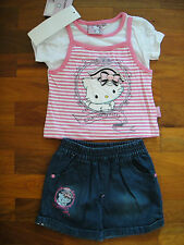 new HELLO KITTY GIRLS SUMMER 2 PIECES OUTFIT SETS SIZE 5