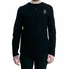 Altamont Spansive Henley Long Sleeved T-Shirt Black BNWT New Free Delivery