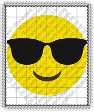 Emoji Sunglasses Birthday ~ Frosting Cake Topper ~ Edible Image ~ D19197